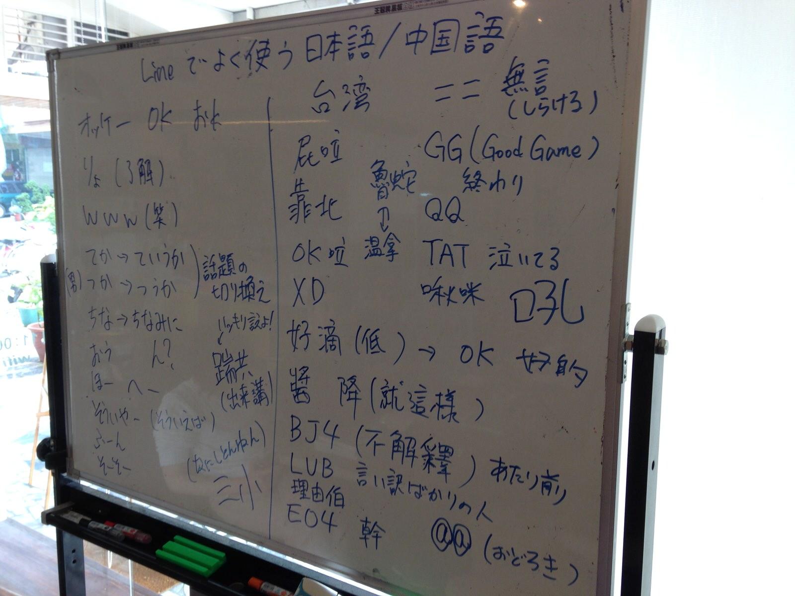 LINE or Mailで使える中文/台語/日語