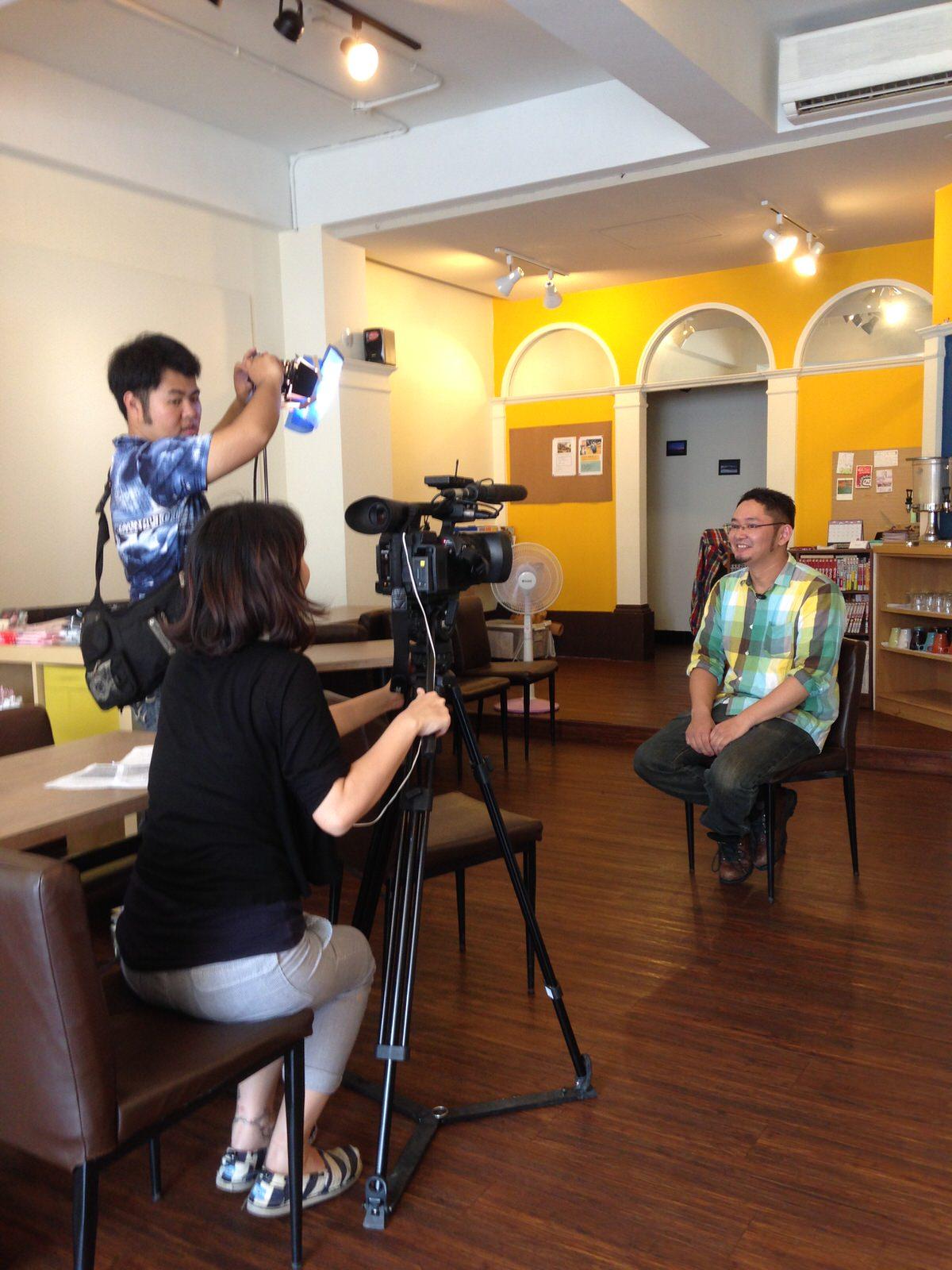 大愛節目來採訪TIL space喔!!/台湾のTV番組「大愛節目」の取材が入りました!