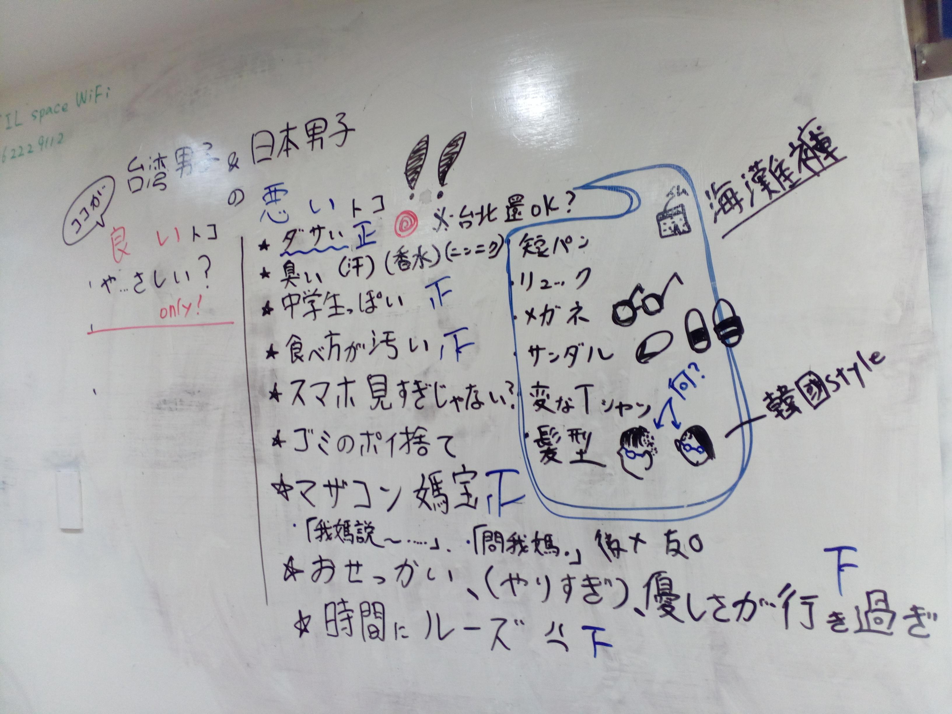 【言語交流会】臺灣男子と日本男子のココがいいトコ!悪いトコ!【女子会】