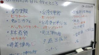日台討論【台南下雨天要去哪裡?】結果(7/6交流會)